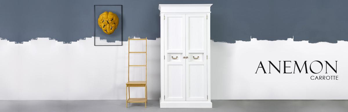 Stylowe białe meble drewniane