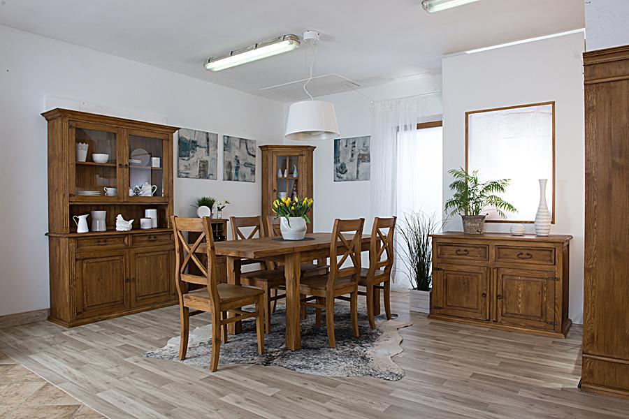 Stylowe meble do salonu z drewna