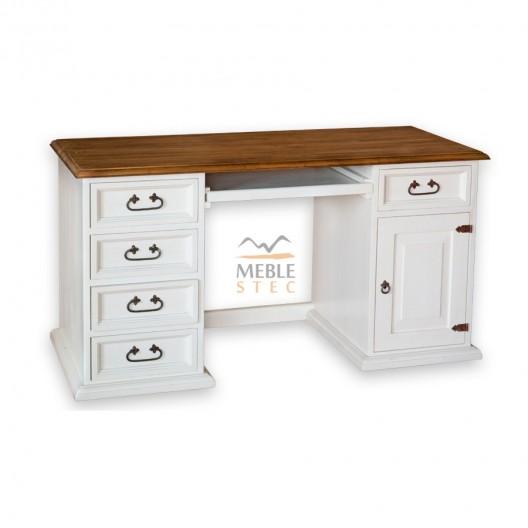 Biurka drewniane białe klasyczne