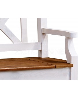 ławka z drewna woskowana