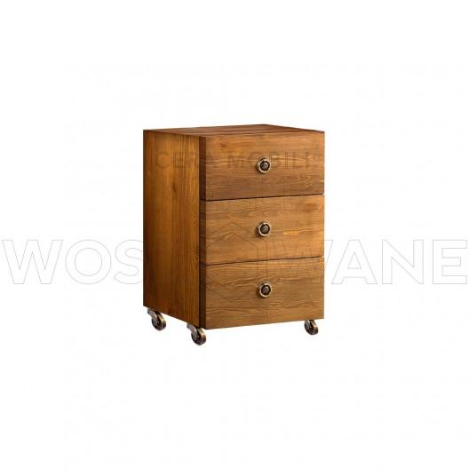 stylowa drewniana szafka do biurka
