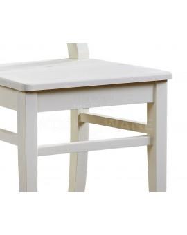 Krzesło drewniane białe kuchenne