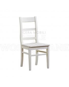 Krzesło drewniane białe do kuchni